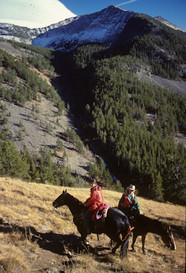 horseback Riding Crazy Mountains - George Wuerthner