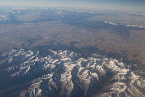 Crazy Mountains from the Air - George Wuerthner
