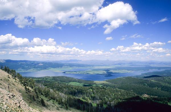 Hebgen Lake from Lionhead Peak - George Wuerthner