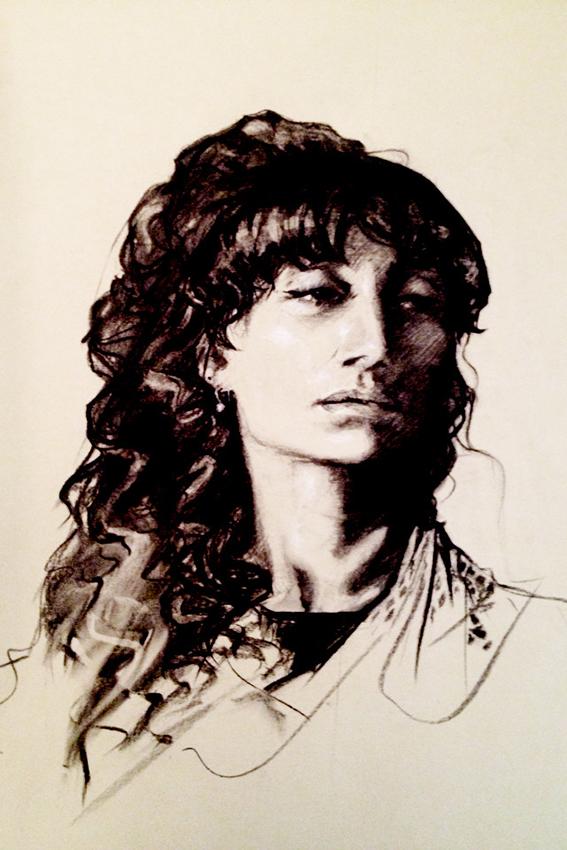 elisa charcoal portrait jo meredith art jomeredithart