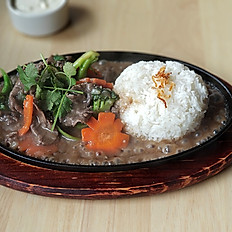 Sizzling rice platter