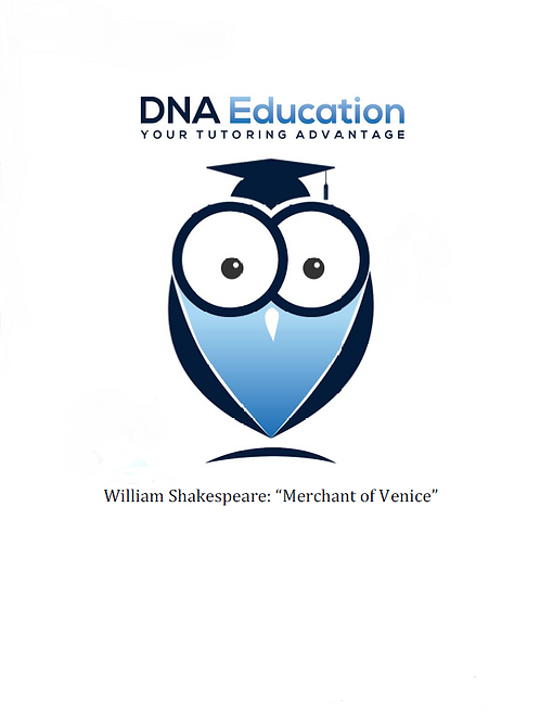 DNA Education 'Merchant Of Venice' Teaching and Student Resource Guide