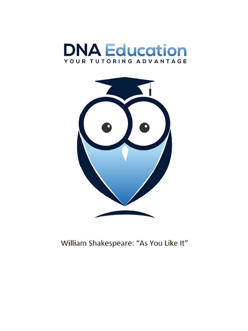 DNA Education 'As You Like It' Teaching and Student Resource Guide