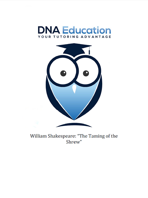 DNA Education 'The Taming of the Shrew' Teaching and Student Resource Guide