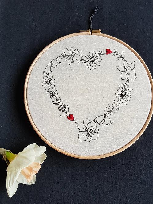 """Floral love 8"""" hoop"""