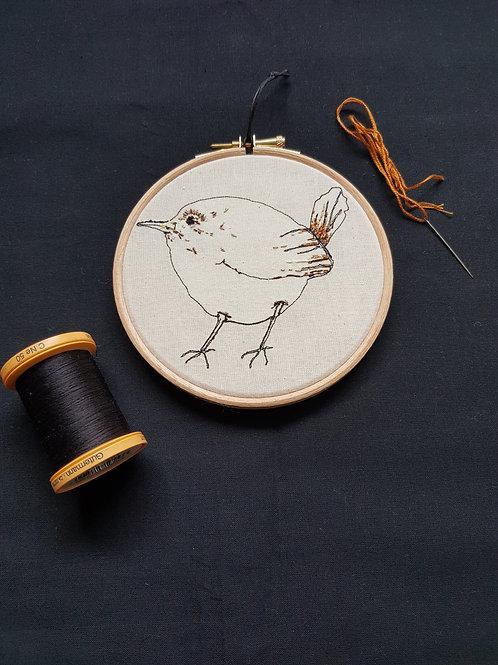 """Jenny Wren Bird 5"""" Hoop"""