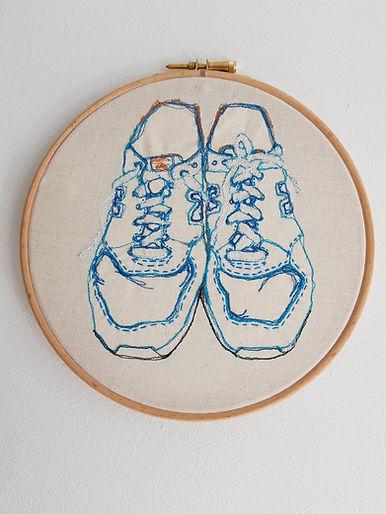 Gemma Rappensberger-an embroidered illustration of New Balance 574