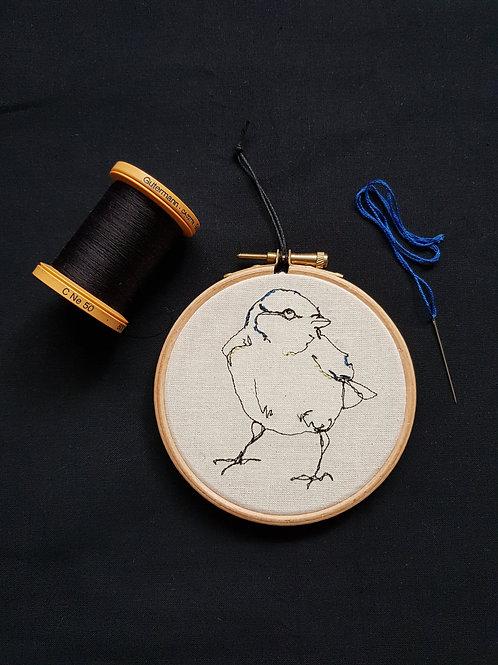 """Blue Tit Bird 4"""" Hoop"""