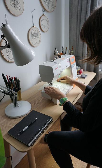 Gemma Rappensberger at work at her desk