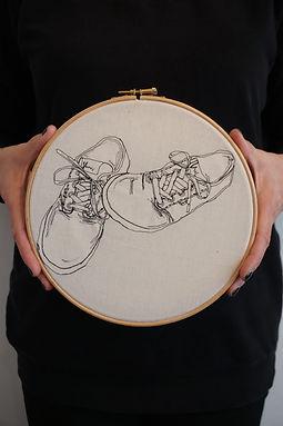 Gemma Rappensberger-an embroidered illustration of Vans trainers