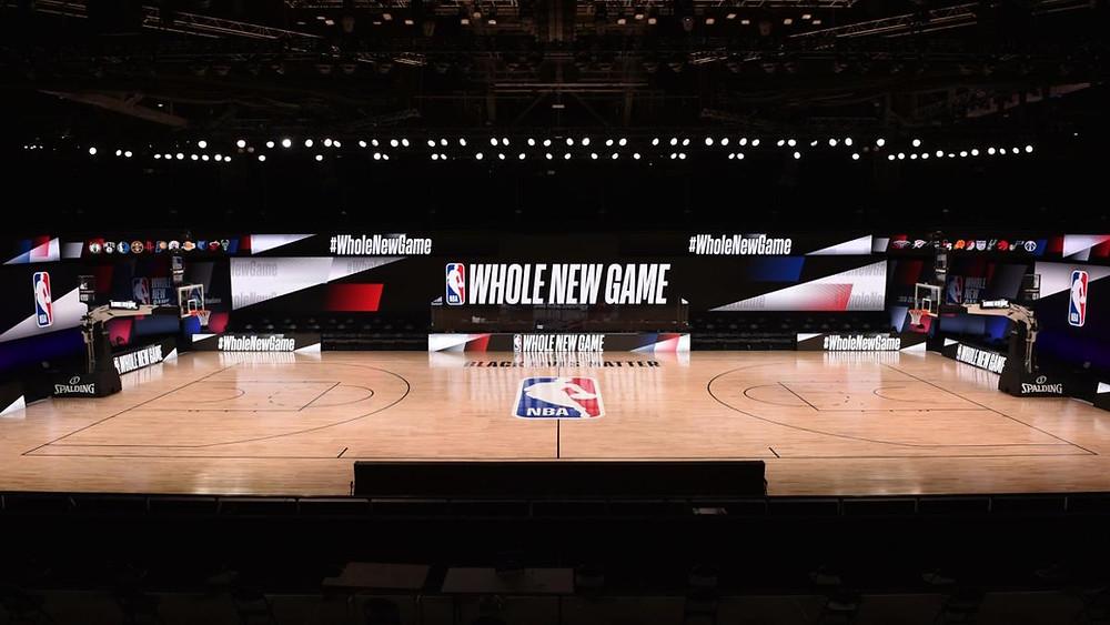 NBA Court in Orlando, Florida
