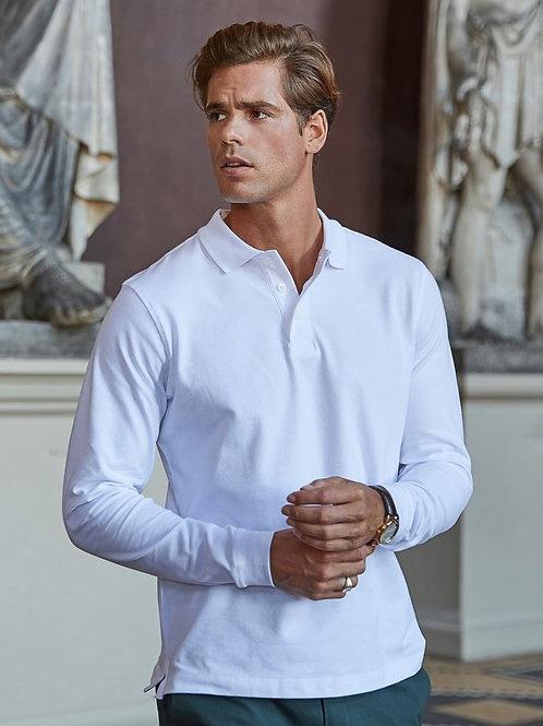 Tee Jays 1406 Moška Luxury Stretch Piqué Polo dolgi rokavi