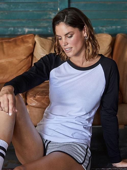 Tee Jays 5073 Ženska Baseball T-Shirt long-sleeve