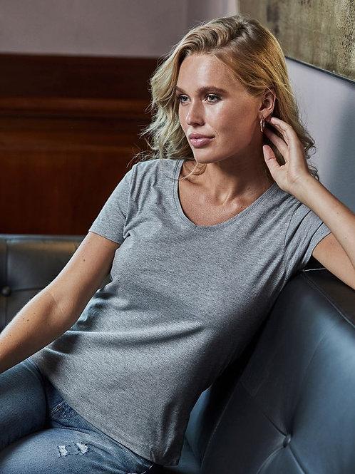 Tee Jays 5005 Ženska Luxury V-Neck T-Shirt