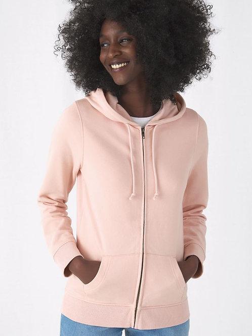 B&C Ženski pulover z zadrgo