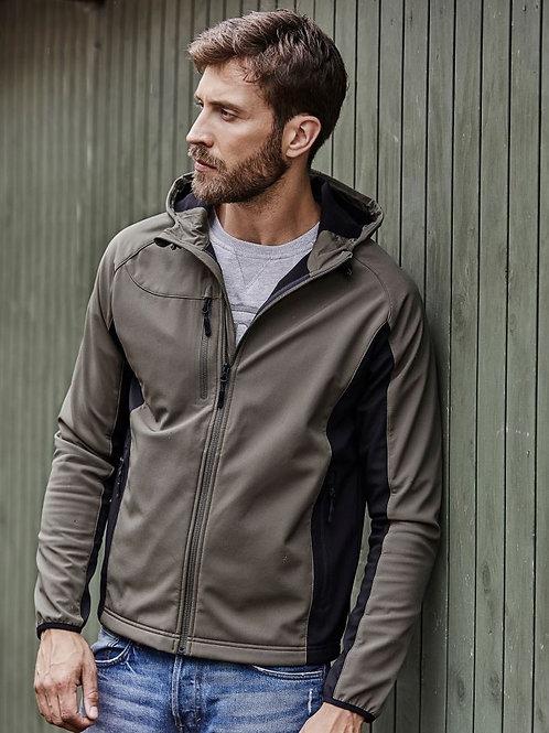 Tee Jays 9514 Moška Hooded 3-Layer Softshell Jacket