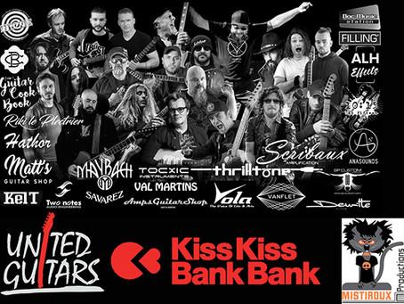 Soutenez United Guitars avec Axel Bauer, Norbert Krief, etc