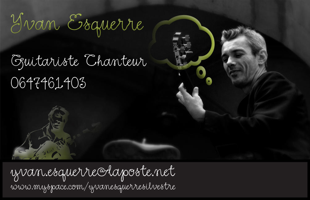 Carte De Visite Cours Guitare Yvan ESQUERRE
