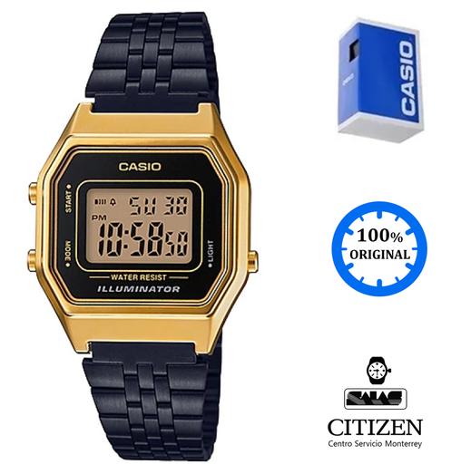 b764e42dc843 Reloj Casio Vintage La680 Mujer Negro