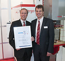 conntronic receives the Innovation Prize at the 2014 EuroBlech in Hanover