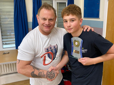 Dedicated Teen Receives Commitment Award For Martial Arts Training