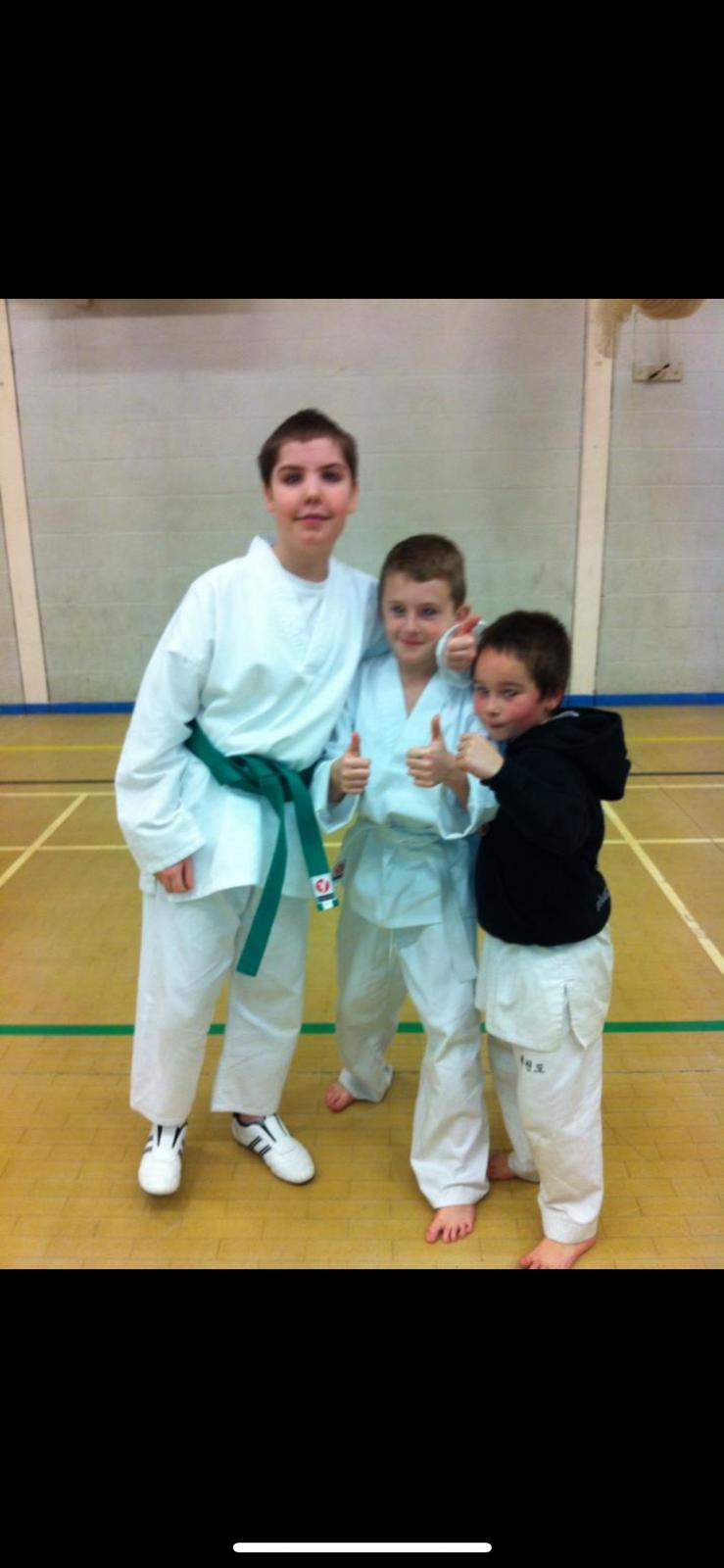 Rhys when he joined B-SMART Martial Arts