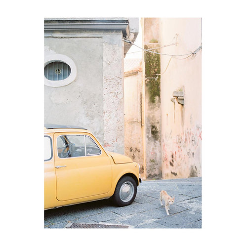 Tropea alley with Fiat 500 - No. 01