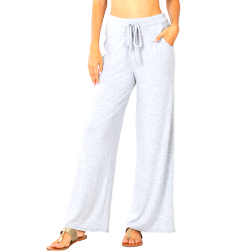 Drawstring Comfy Pants -Ivory