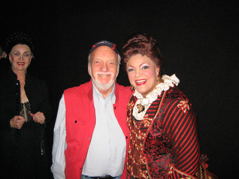 Patricia with Hal Prince