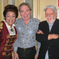 With Sir Andrew Lloyd Webber and Hal Prince