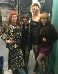 Backstage at KINKY BOOTS
