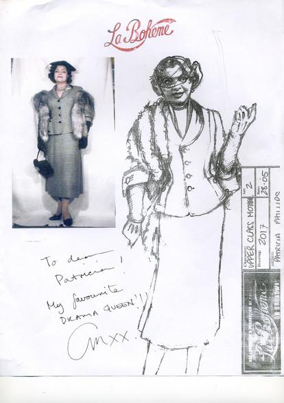 Baz Luhrman's LA BOHÈME — Costume Design Sketch by Academy Award Winning Costume Designer Catherine Martin
