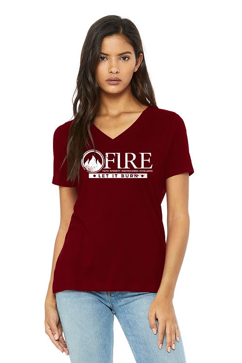 Women's V-Neck FIRE T-Shirts