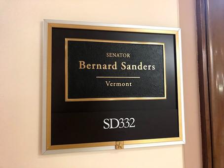 バーニー・サンダース米上院議員の立法補佐官との会談