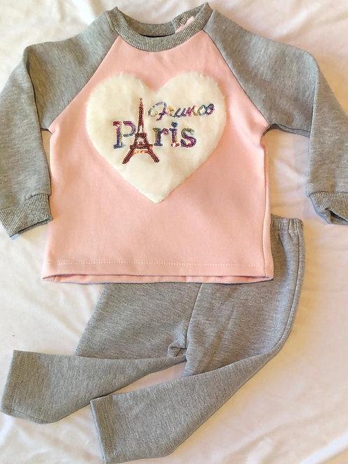 Conjunto Corazón Paris Beba