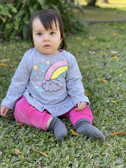 Remera Beba Arco Iris