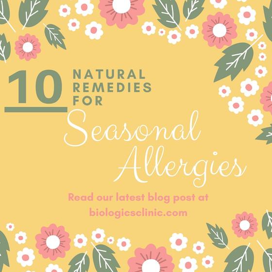 10 Natural Remedies for Seasonal Allergies