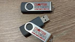 Fabrication et Personnalisation 2000 clés USB