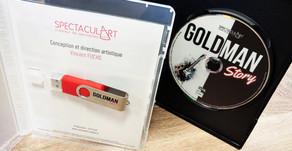 """Clés USB pour """"Goldman Story"""" par Spectacul'Art"""