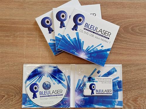 Boîtier Digipack CD/DVD/USB Card