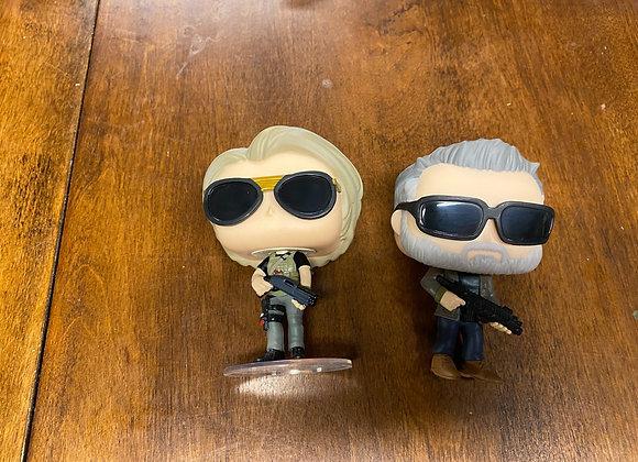 Terminator and Sarah Conner Funko Pops Set