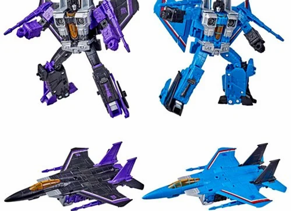 Transformers Earthrise Voyager Skywarp and Thundercracker