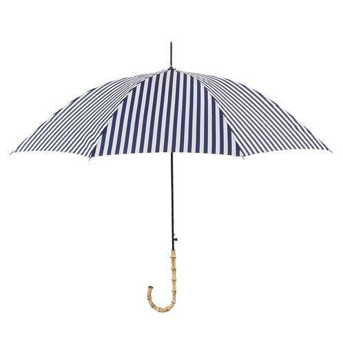 晴雨兼用長傘 stripe navy 161001