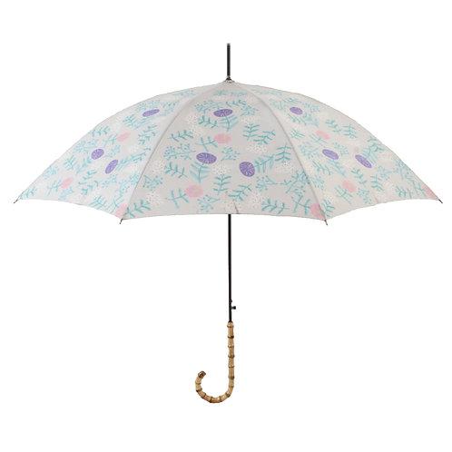 晴雨兼用長傘 flower lt.grey 161010