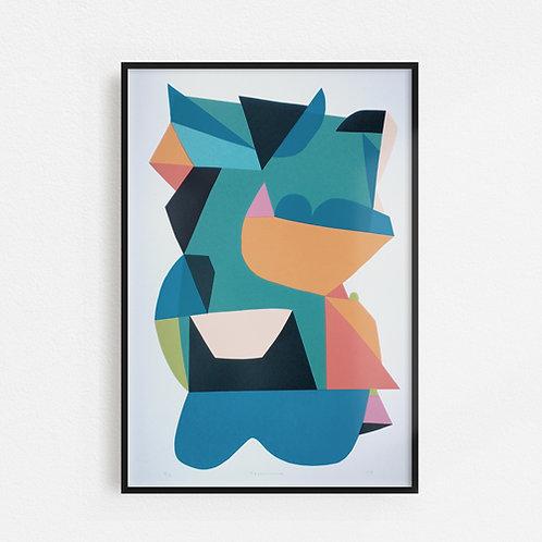 Technicolour Screen Print