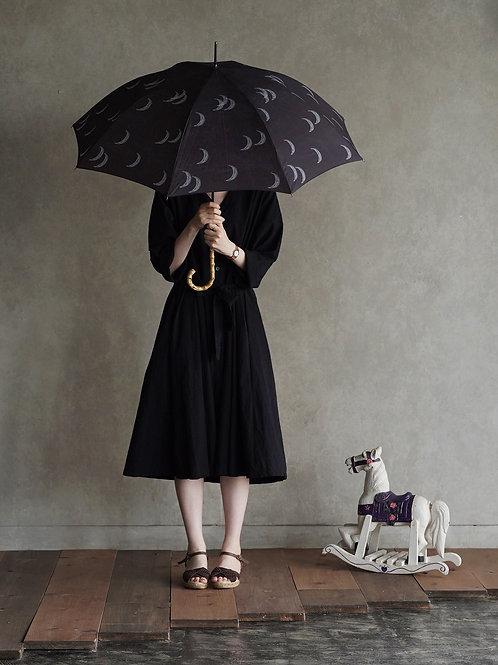 晴雨兼用長傘 moon black