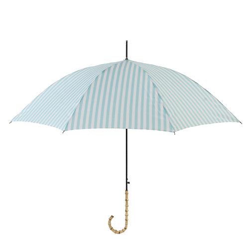 晴雨兼用長傘 stripe aqua 161002