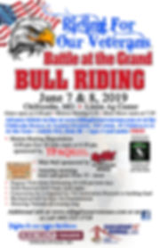 Ride For Our Vet RODEO poster Chillicoth