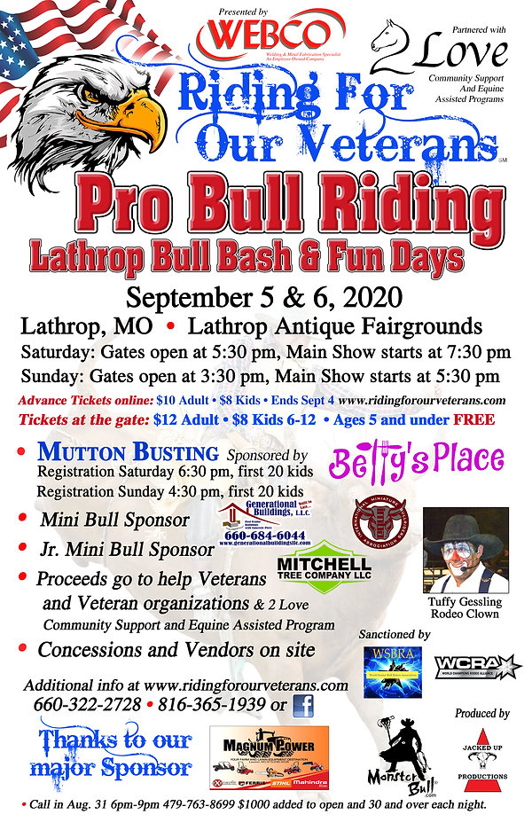Ride For Our Vet RODEO poster Lathrop.jp