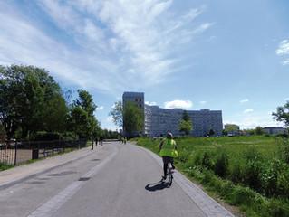 Habitat social, apprentissage de la mobilité durable et stationnement vélo, un trio qui fonctionne.